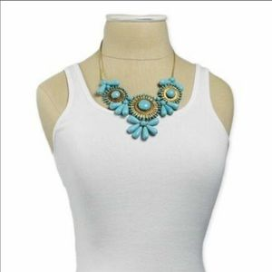 Jewelry - NWT Turquoise Beaded Statement Necklace